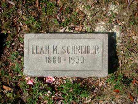 SCHNEIDER, LEAH M. - Meigs County, Ohio | LEAH M. SCHNEIDER - Ohio Gravestone Photos