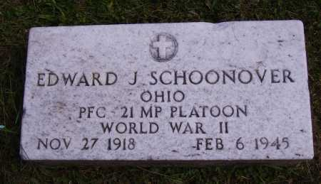 SCHOONOVER, EDWARD J. - Meigs County, Ohio | EDWARD J. SCHOONOVER - Ohio Gravestone Photos