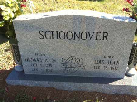 SCHOONOVER, THOMAS A. - Meigs County, Ohio | THOMAS A. SCHOONOVER - Ohio Gravestone Photos