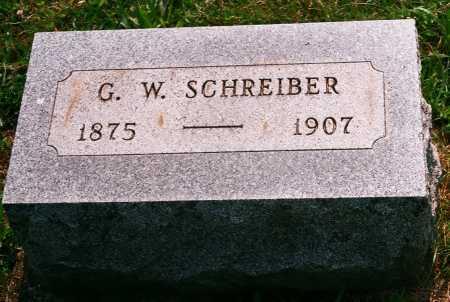 SCHREIBER, GEORGE W. - Meigs County, Ohio | GEORGE W. SCHREIBER - Ohio Gravestone Photos