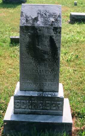 ISELSTINE SCHREIBER, MAGDALENA - Meigs County, Ohio | MAGDALENA ISELSTINE SCHREIBER - Ohio Gravestone Photos