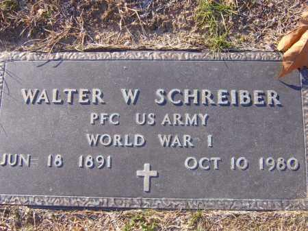 SCHREIBER, WALTER W - Meigs County, Ohio | WALTER W SCHREIBER - Ohio Gravestone Photos