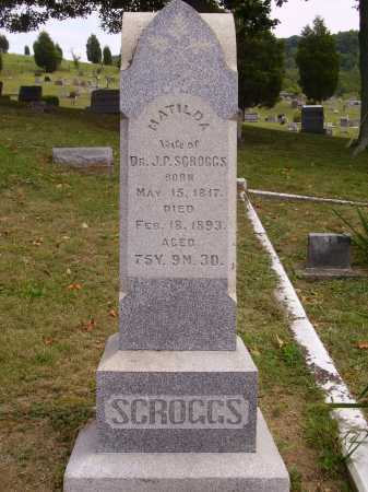 SCROGGS, MATILDA - OVERALL VIEW - Meigs County, Ohio | MATILDA - OVERALL VIEW SCROGGS - Ohio Gravestone Photos