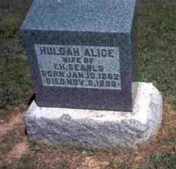 SEARLS, HULDAH ALICE - Meigs County, Ohio | HULDAH ALICE SEARLS - Ohio Gravestone Photos