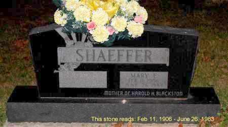 SHAEFFER, MARY E. - Meigs County, Ohio | MARY E. SHAEFFER - Ohio Gravestone Photos