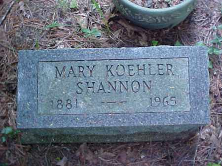 KOEHLER SHANNON, MARY - Meigs County, Ohio | MARY KOEHLER SHANNON - Ohio Gravestone Photos