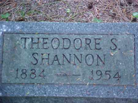 SHANNON, THEODORE S. - Meigs County, Ohio | THEODORE S. SHANNON - Ohio Gravestone Photos