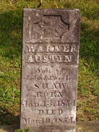 SHAW, WARNER AUSTIN - Meigs County, Ohio | WARNER AUSTIN SHAW - Ohio Gravestone Photos