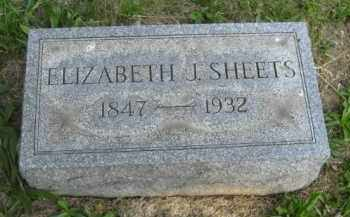 SHEETS, ELIZABETH J - Meigs County, Ohio | ELIZABETH J SHEETS - Ohio Gravestone Photos