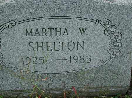 SHELTON, MARTHA W. - Meigs County, Ohio | MARTHA W. SHELTON - Ohio Gravestone Photos