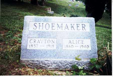 SHOEMAKER, ALICE - Meigs County, Ohio | ALICE SHOEMAKER - Ohio Gravestone Photos