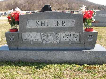 SHULER, ELSIE E - Meigs County, Ohio | ELSIE E SHULER - Ohio Gravestone Photos