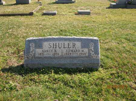 SHULER, EDWARD M - Meigs County, Ohio | EDWARD M SHULER - Ohio Gravestone Photos
