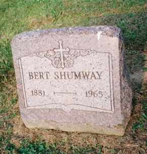 SHUMWAY, BERT - Meigs County, Ohio | BERT SHUMWAY - Ohio Gravestone Photos