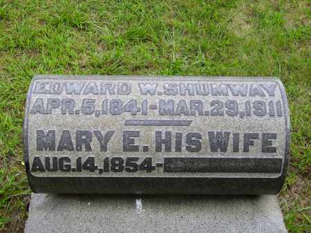 SHUMWAY, EDWARD W. - Meigs County, Ohio | EDWARD W. SHUMWAY - Ohio Gravestone Photos