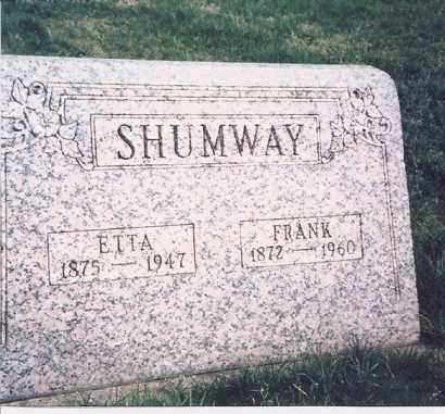 SHUMWAY, ETTA - Meigs County, Ohio | ETTA SHUMWAY - Ohio Gravestone Photos