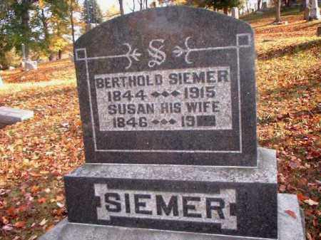 SIEMER, BERTHOLD - Meigs County, Ohio | BERTHOLD SIEMER - Ohio Gravestone Photos