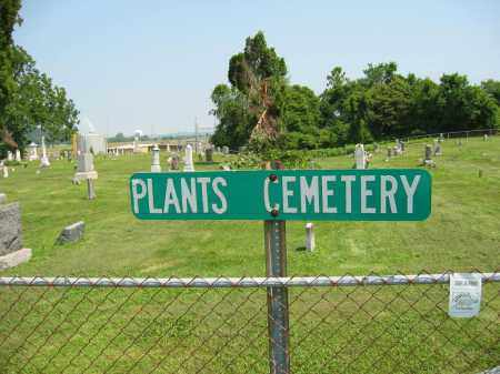 PLANTS CEMETERY, SIGN - Meigs County, Ohio | SIGN PLANTS CEMETERY - Ohio Gravestone Photos