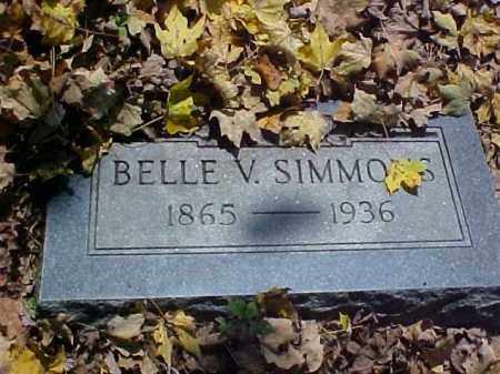 HUGHES SIMMONS, BELLE V. - Meigs County, Ohio | BELLE V. HUGHES SIMMONS - Ohio Gravestone Photos