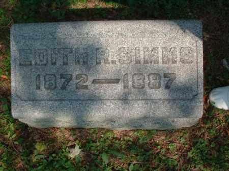 SIMMS, EDITH R. - Meigs County, Ohio | EDITH R. SIMMS - Ohio Gravestone Photos