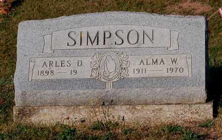SIMPSON, ARLES D. - Meigs County, Ohio | ARLES D. SIMPSON - Ohio Gravestone Photos