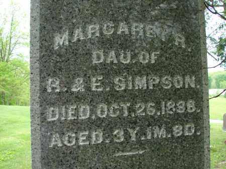 SIMPSON, MARGARET R - Meigs County, Ohio | MARGARET R SIMPSON - Ohio Gravestone Photos