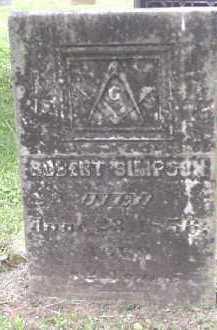 SIMPSON, ROBERT - Meigs County, Ohio | ROBERT SIMPSON - Ohio Gravestone Photos