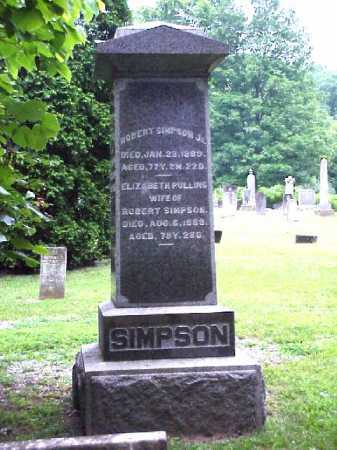 SIMPSON, ELIZABETH - Meigs County, Ohio | ELIZABETH SIMPSON - Ohio Gravestone Photos