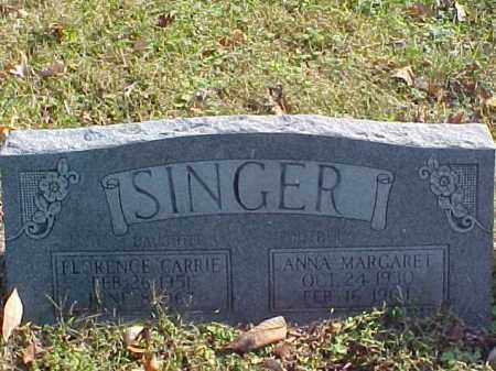 SINGER, ANNA MARGARET - Meigs County, Ohio | ANNA MARGARET SINGER - Ohio Gravestone Photos