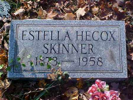 HECOX SKINNER, ESTELLA - Meigs County, Ohio | ESTELLA HECOX SKINNER - Ohio Gravestone Photos
