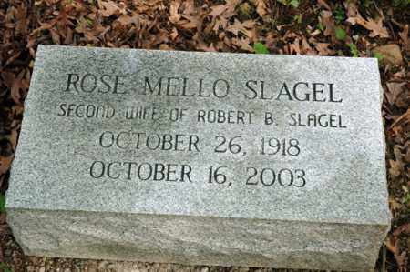 SLAGEL, ROSE MELLO - Meigs County, Ohio | ROSE MELLO SLAGEL - Ohio Gravestone Photos
