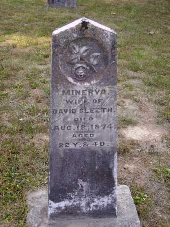 SLEETH, MINERVA - Meigs County, Ohio | MINERVA SLEETH - Ohio Gravestone Photos