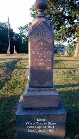 SLOAN, MARIA - Meigs County, Ohio | MARIA SLOAN - Ohio Gravestone Photos