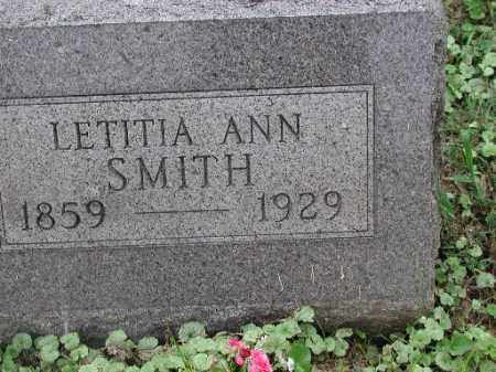 SMITH, LETITIA ANN - Meigs County, Ohio | LETITIA ANN SMITH - Ohio Gravestone Photos