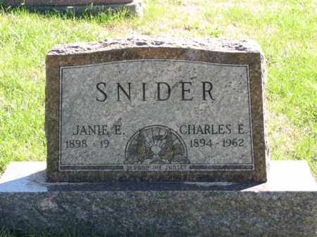 SNIDER, JANIE E. - Meigs County, Ohio | JANIE E. SNIDER - Ohio Gravestone Photos