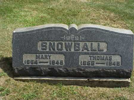 SNOWBALL, MARY - Meigs County, Ohio | MARY SNOWBALL - Ohio Gravestone Photos