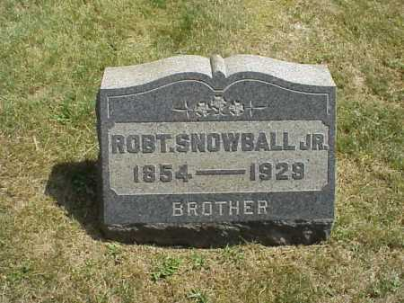 SNOWBALL, ROBERT JR. - Meigs County, Ohio | ROBERT JR. SNOWBALL - Ohio Gravestone Photos