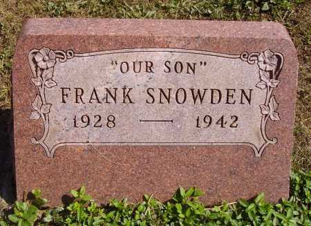 SNOWDEN, FRANK - Meigs County, Ohio | FRANK SNOWDEN - Ohio Gravestone Photos