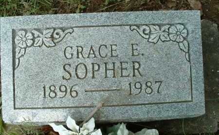SOPHER, GRACE E. - Meigs County, Ohio | GRACE E. SOPHER - Ohio Gravestone Photos