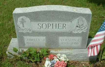 SOPHER, SHIRLEY J. - Meigs County, Ohio | SHIRLEY J. SOPHER - Ohio Gravestone Photos