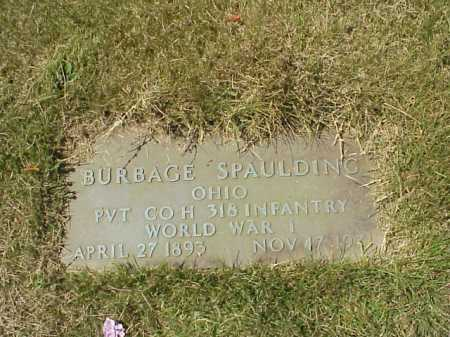 SPAULDING, BURBAGE - MILITARY - Meigs County, Ohio | BURBAGE - MILITARY SPAULDING - Ohio Gravestone Photos