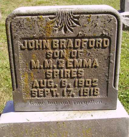 SPIRES, JOHN BRADFORD - Meigs County, Ohio | JOHN BRADFORD SPIRES - Ohio Gravestone Photos
