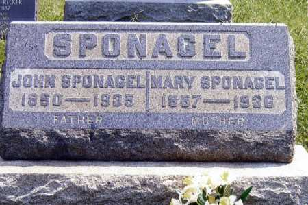 SPONAGEL, MARY A - Meigs County, Ohio | MARY A SPONAGEL - Ohio Gravestone Photos