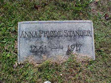 PRIODE STANDER, ANNA - Meigs County, Ohio | ANNA PRIODE STANDER - Ohio Gravestone Photos