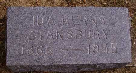 STANSBURY, IDA H. - INDIVIDUAL STONE - Meigs County, Ohio | IDA H. - INDIVIDUAL STONE STANSBURY - Ohio Gravestone Photos