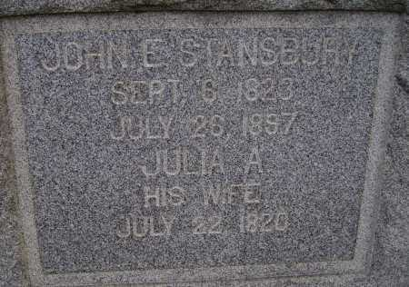 STANSBURY, JULIA ANNE - CLOSE VIEW - Meigs County, Ohio | JULIA ANNE - CLOSE VIEW STANSBURY - Ohio Gravestone Photos