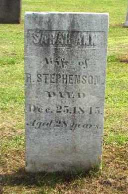 STEPHENSON, SARAH ANN - Meigs County, Ohio | SARAH ANN STEPHENSON - Ohio Gravestone Photos
