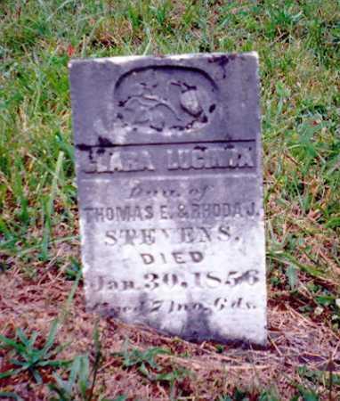 STEVENS, CLARA LUCINDA - Meigs County, Ohio   CLARA LUCINDA STEVENS - Ohio Gravestone Photos
