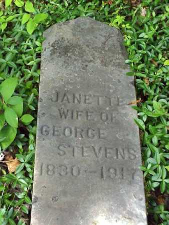 STEVENSON STEVENS, JANETTE - Meigs County, Ohio | JANETTE STEVENSON STEVENS - Ohio Gravestone Photos