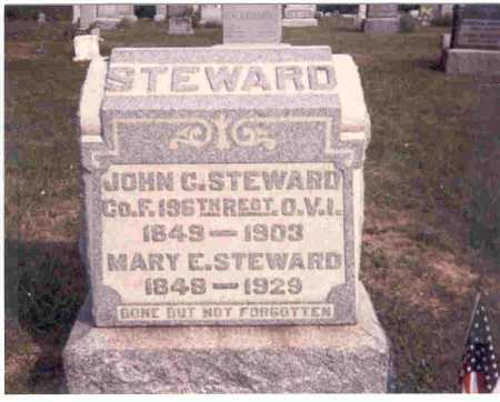 STEWARD, MARY E. - Meigs County, Ohio | MARY E. STEWARD - Ohio Gravestone Photos